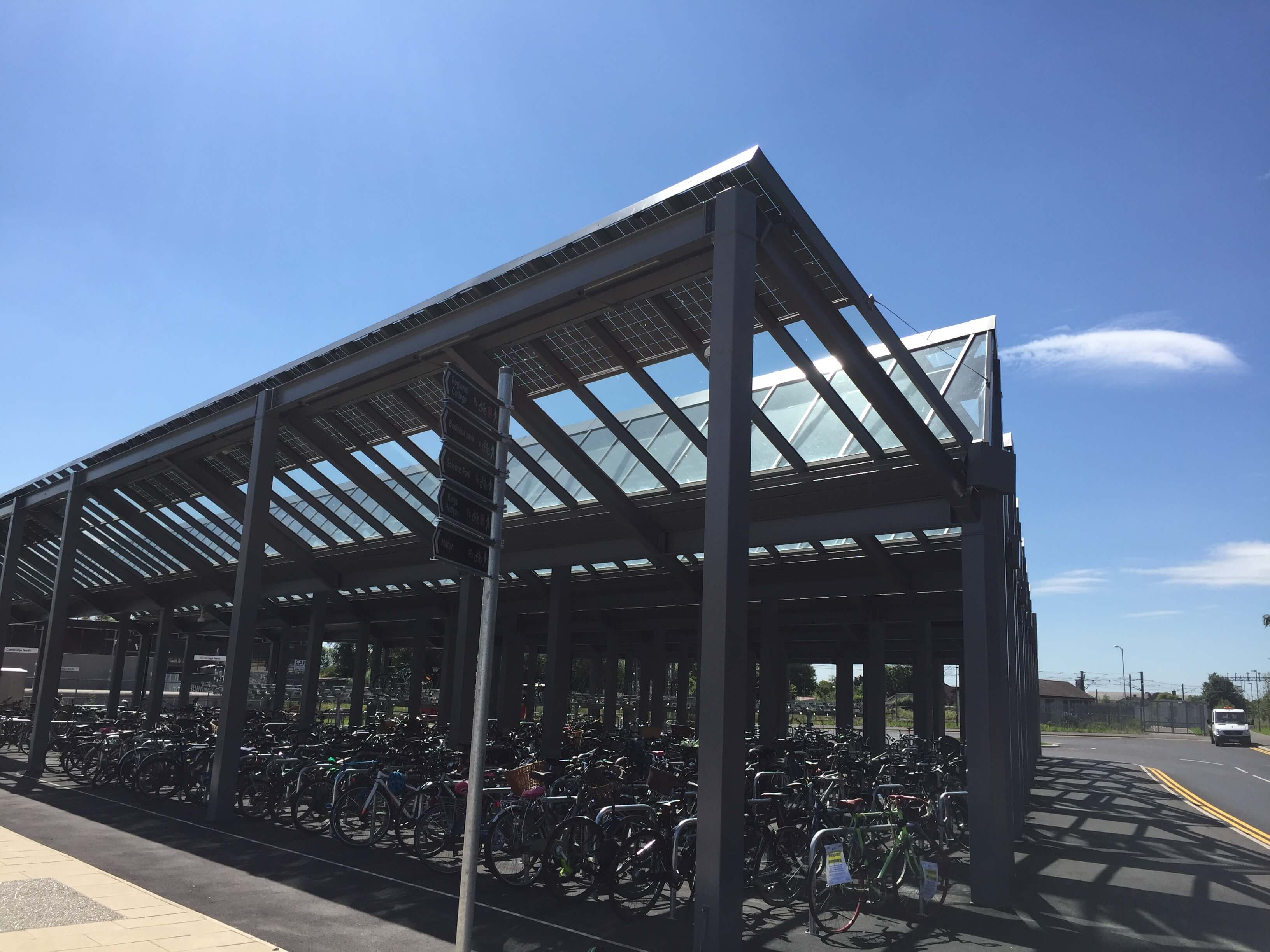Cambridge North Railway Station Cycle Park