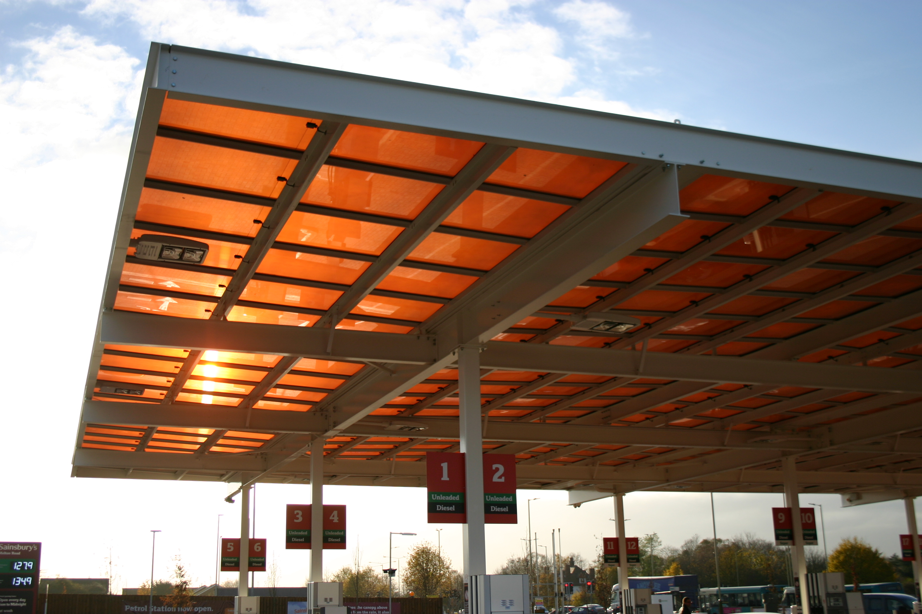 Sainsbury's Forecourt Canopies